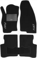Коврики в салон для Fiat Linea '07-15 текстильные, черные (Стандарт)