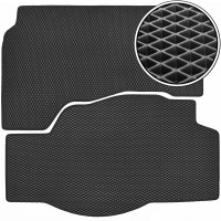Kinetic Килимок багажник для Lincoln MKZ '12-19 Hybrid (2 частини), EVA чорний (Kinetic)