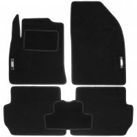 Коврики в салон для Ford Fiesta '02-09 текстильные, черные (Стандарт)