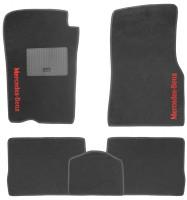 Коврики в салон для Mercedes ML-Class W163 '98-05 текстильные, черные (Стандарт)
