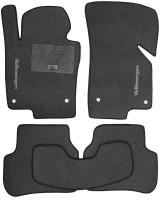 Коврики в салон для Volkswagen Golf VI '09-12 текстильные, серые (Стандарт)