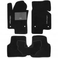 Коврики в салон для Volkswagen Jetta VI '10- текстильные, черные (Стандарт)