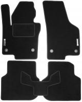 Коврики в салон для Volkswagen Jetta VI '10-19 текстильные, черные (Стандарт)