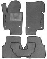 Коврики в салон для Volkswagen Jetta VI '10- текстильные, серые (Стандарт)