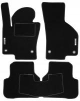 Коврики в салон для Volkswagen Passat B6 '05-10 текстильные, черные (Стандарт)