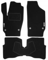 Коврики в салон для Volkswagen Polo '02-05 текстильные, черные (Стандарт)