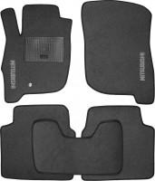 Коврики в салон для Mitsubishi Galant '04-12 текстильные, серые (Стандарт)