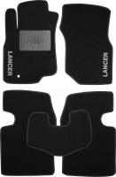Коврики в салон для Mitsubishi Lancer 9 '04-09 текстильные, черные (Стандарт)