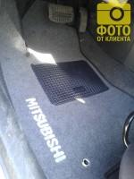 Коврики в салон для Mitsubishi Outlander '03-07 текстильные, серые (Стандарт)
