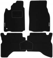 Коврики в салон для Mitsubishi Pajero Sport '98-08 текстильные, черные (Стандарт)