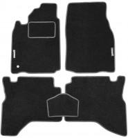Коврики в салон для Mitsubishi Pajero Sport '98-08 текстильные, серые (Стандарт)