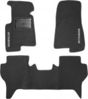 Коврики в салон для Mitsubishi Pajero Wagon 3 '00-07 текстильные, серые (Стандарт)