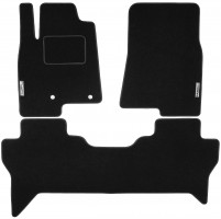Коврики в салон для Mitsubishi Pajero Wagon 4 '07- текстильные, черные (Стандарт)