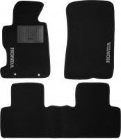 Коврики в салон для Honda Civic 4D '06-12 текстильные, черные (Стандарт)