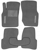 Коврики в салон для Nissan Almera '00-06 текстильные, серые (Стандарт)