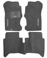 Коврики в салон для Nissan NP300 '08- текстильные, серые (Стандарт)