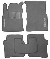 Коврики в салон для Nissan Primera P12 '02-08 текстильные, серые (Стандарт)