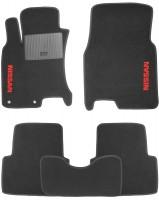 Коврики в салон для Nissan Qashqai '06-14 текстильные, черные (Стандарт)