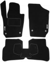 Коврики в салон для Volkswagen Polo '09-17 хетчбек текстильные, черные (Стандарт)