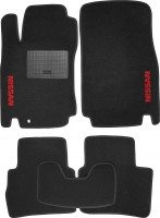 Коврики в салон для Nissan Tiida '05-14 текстильные, черные (Стандарт)