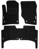 Коврики в салон для Volkswagen Touareg '02-09 текстильные, черные (Стандарт)