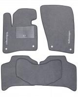 Коврики в салон для Volkswagen Touareg '10-18 текстильные, серые (Стандарт)