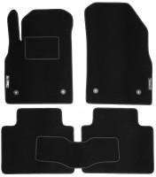 Коврики в салон для Opel Astra J '09- текстильные, черные (Стандарт)
