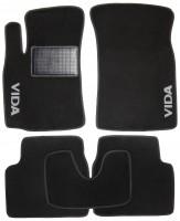 Коврики в салон для ЗАЗ Vida Hatchback '12- текстильные, черные (Стандарт)