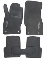 Коврики в салон для Opel Corsa D '06-14 текстильные, серые (Стандарт)