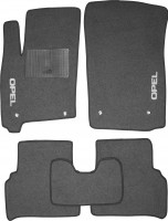 Коврики в салон для Opel Meriva '03-09 текстильные, серые (Стандарт)