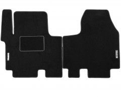 Коврики в салон для Opel Vivaro '01- текстильные, черные (Стандарт)