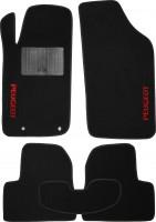 Коврики в салон для Peugeot 206 '98-09 текстильные, черные (Стандарт)