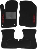 Коврики в салон для Peugeot 208 '12- текстильные, черные (Стандарт)