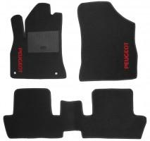 Коврики в салон для Peugeot 3008 '09-16 текстильные, черные (Стандарт)