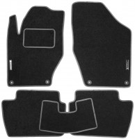 Коврики в салон для Peugeot 308 '08-13 текстильные, серые (Стандарт)