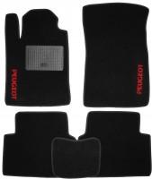 Коврики в салон для Peugeot 407 '04-10 текстильные, черные (Стандарт)