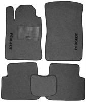 Коврики в салон для Peugeot 407 '04-10 текстильные, серые (Стандарт)