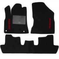 Коврики в салон для Peugeot 5008 '09-16 текстильные, черные (Стандарт)