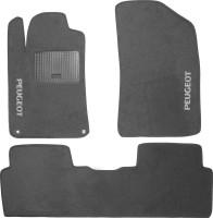 Коврики в салон для Peugeot 5008 '09-16 текстильные, серые (Стандарт)