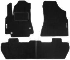 Коврики в салон для Peugeot Partner '08- текстильные, черные (Стандарт)