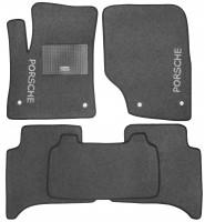 Коврики в салон для Porsche Cayenne '03-09 текстильные, серые (Стандарт)