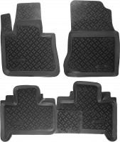 Коврики в салон для BMW X5 E53 '00-07 полиуретановые, черные (Aileron)