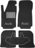 Коврики в салон для Audi 100 /A6 '91-97 текстильные, серые (Люкс)