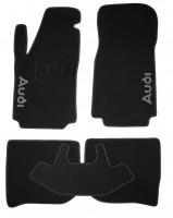 Коврики в салон для Audi 100 /A6 '91-97 текстильные, черные (Люкс)