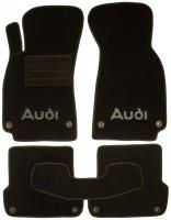Коврики в салон для Audi A4 '00-05 текстильные, черные (Люкс) 8 клипс