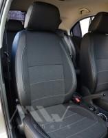 Авточехлы Premium для салона Skoda Rapid '13- серая строчка (MW Brothers)