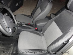 Авточехлы Premium для салона Volkswagen Jetta VI '10- красная строчка (MW Brothers)
