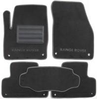 Коврики в салон для Land Rover Range Rover Evoque '11-, 3 дв., текстильные, серые (Люкс)