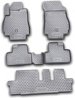 Коврики в салон для Chevrolet Orlando '11- полиуретановые, черные (Novline) 1+2 ряд сидений