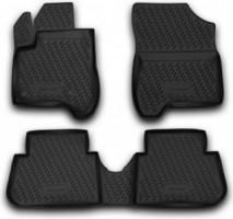 Коврики в салон для Citroen C3 '10- Picasso полиуретановые, черные (Novline)